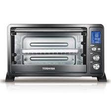 digital 6 slice black convection toaster oven