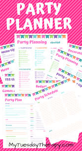 Party Planer Free Party Planner Printable Makes Party Planning Super Fun