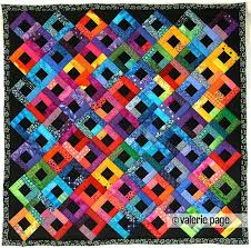 Best 25+ Bright quilts ideas on Pinterest   Colorful quilts, Baby ... & Bright Scraps on Black Quilt - by Valerie Page - Machine pieced and hand  quilted. Adamdwight.com