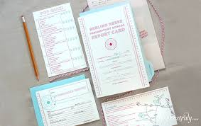 Paper Reports Reports Are In Report Card Wedding Invitation Paper Truly