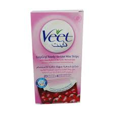 veet easy easygrip 20 ready to use wax strips 4 perfect finish wipes shea
