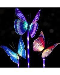decorative solar lighting. Doingart Garden Solar Lights Outdoor - 3 Pack Stake Light Multi-color  Changing LED Decorative Solar Lighting