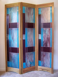 Glass room divider Iron Image Impressive Home Design Ideas Stained Glass Room Divider 3panel Screen Bordeaux Model By Etsy