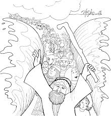 Moses Coloring Pages Unique And The Red Sea Page 29 Best Free