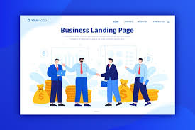 Business Landing Page Concept For Template Vector Free