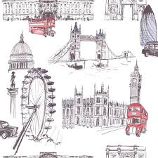London Wallpaper For Bedrooms London Theme Wallpaper Ideco Home Sightseeing Wallpaper
