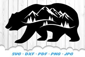 Also, these files can be used for printing. Bear Mountains Silhouette Svg Dxf Cut Files 414935 Illustrations Design Bundles