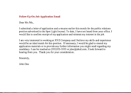 Resume Follow Up Email Sample Impressive Job Follow Up Email