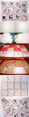 diy cardboard collage puzzle baby picture frame 2