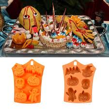 LeKing <b>Halloween</b> Pumpkin <b>Silicone Cake Mold</b> 6 Cavities Pumpkin ...
