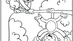 Coloring Printable Monkey Coloring Pages Cartoon Baby Cute Monkeys