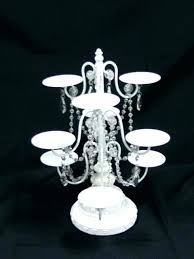 crystal chandelier cupcake stand holder white beaded 6 chan