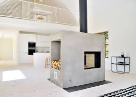 View in gallery swedish loft house with concrete fireplace feature 1 thumb  630x450 27662 Swedish Loft House with Concrete