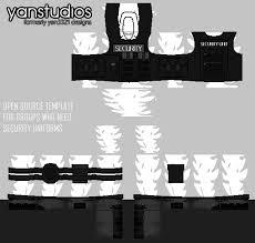 security uniform pants template roblox