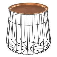 awesome copper and metal wire side table copper style furniture zurleys intended for copper side table