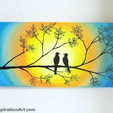bird wall art canvas love birds in tree abstract acrylic painting on canvas abstract tree painting on bananafish love bird canvas wall art with bananafish love bird canvas wall art chambernation me