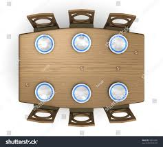 Top Down View Dinner Table Chairs Stock Illustration Dining Table