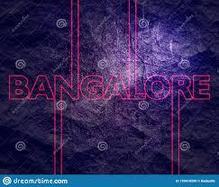 Design Theme Bangalore Bangalore City Name Stock Illustration Illustration Of