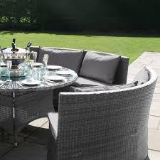 maze rattan garden dallas sofa set grey
