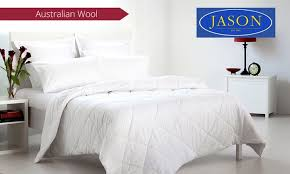 Jason Australian Wool Quilt   Groupon & Groupon Goods: Jason Australian Washable Wool Quilt: from $49 for 300GSM,  or from Adamdwight.com