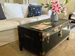 leather steamer trunk coffee table coffee trunk coffee table stainless steel metal antique vintage fence kitchen