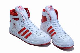 adidas red shoes. adidas white uk - decade hi top / red shoes