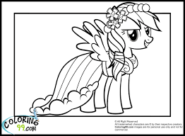 Small Picture Rainbow Dash Coloring Pages Printable Image Gallery HCPR