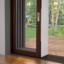 contemporary door stacked panels option inside triple sliding glass door