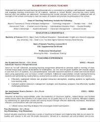 Resume For Teaching Profession Teaching Cv Template Job Description