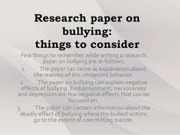 research paper on bullying gravy anecdote research paper on bullying