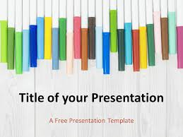 Template For School Markers Template For Powerpoint And Google Slides