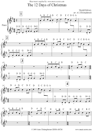 The 12 Days of Christmas: Easy Piano sheet music by Christmas: Piano -