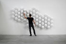 the hexi wall in action courtesy thibautsld  on canadian artist wall art with canadian artist creates interactive wall that moves as you walk by