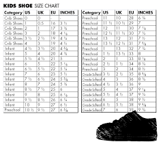 Kids Shoe Size Chart Inches Pin By Diany On Crochet Shoe Size Chart Kids Baby Shoe