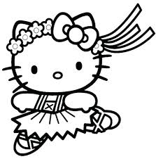 Hello Kitty Colouring Sheets Cute Kitty Coloring Pages Free