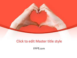 Heart Powerpoint Templates Free Hand Making Heart Sign Powerpoint Template Free