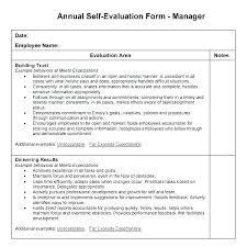 Employee Evaluation Checklist Template Employee Self Evaluation Template Checklist Employee Self