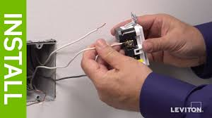 leviton presents how to install smartlockpro afci gfci outlet youtube GFCI Wiring Diagram for Dummies at Leviton Gfci Wiring Diagram