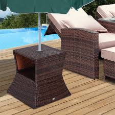outsunny outdoor patio rattan wicker