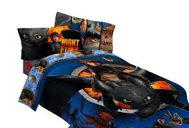4pc dream works how to train your dragon twin bedding set hiccup and toothless dragon flyers comforter and sheet set com