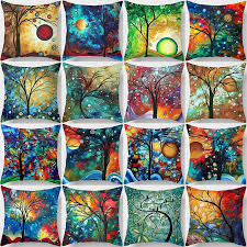 hot sale many kinds of flowers gray and color pattern women men pillow case boys girls weeping pillow cover size 45 45cm