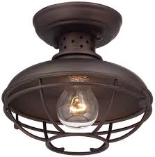 franklin park metal cage 8 1 2 wide outdoor ceiling light close to ceiling light fixtures com