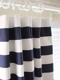 Navy And White Curtains Blue And White Curtains Dark Blue Curtains Bedroom Photo 10 Set