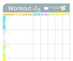 Diet Workout Journal Diet And Exercise Journal Template