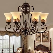 3 5 6 8 arms retro chandelier lighting glass lampshade wrought iron chandelier living dining room bedroom hanging chandelier modern pendants hanging light