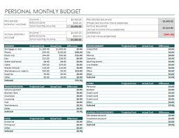 sample budget plan for single person personal monthly budget