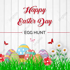 happy easter day with eggs and white