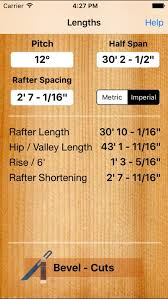 Roof Carpenter Rafter Hip Valley Length And Plumb Cut