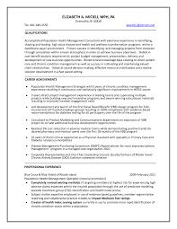 Management Consultant Resume Healthcare Consultant Resume Resume