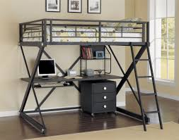 metal bunk bed with desk.  Bunk Full Size Loft Bed With Desk  Double Underneath Bunk  On Metal With W